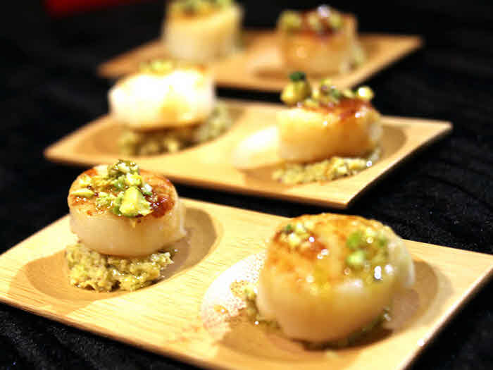 Saffron Glazed Scallops